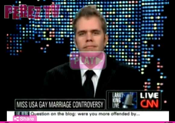 Perez Hilton on CNN with Larry King