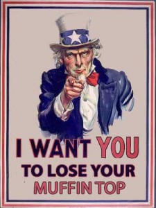 Lose Your Muffin Top Humor - Uncle Sam