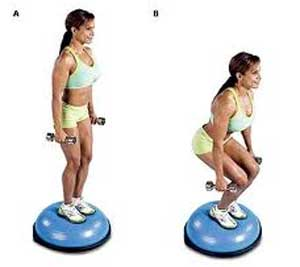 bosu half dome squat Losing Body Fat by Increasing Metabolic Cost