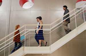 take the stairs Work it Out:  6 Tips for Staying Fit at the Office
