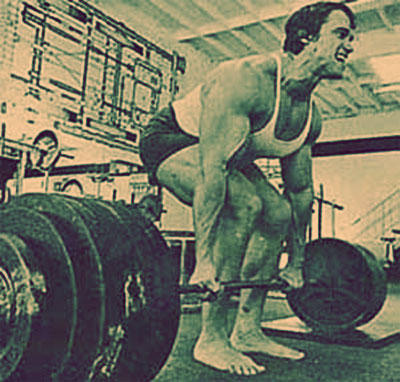 arnold schwartzenaggar squatting Powerhouse Training: Squats and Deadlifts