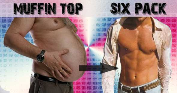 muffin top vs 6 pack How To Lose Belly Fat Without Crunches And Sit Ups?