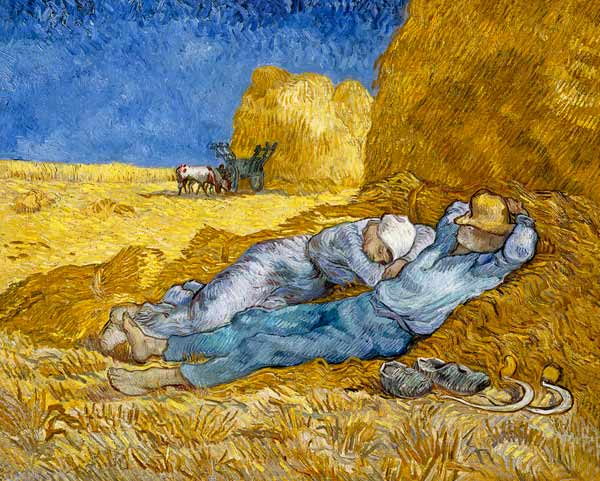 van gogh the siesta March 14 is National Napping Day