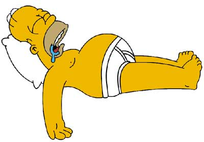 Homer Simpson Sleep