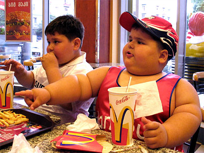 fat kits eating mcdonalds Tackling Childhood Obesity: the Fine Line Between Pointing Fingers and Sticking Your Head in the Sand