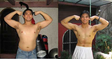 noel before after 40 lbs Ive lost 40 lbs in 6 months on EET while still eating junk food every day