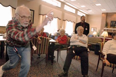 wii sports seniors Wii Sports, Tai Chi and Dancing:  Nursing Homes Arent Boring!