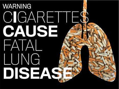 Ashtray Lung - Cigarettes Cause Lung Cancer