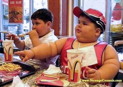 fat kid eating mcdonalds How Do We Stop Childhood Obesity?