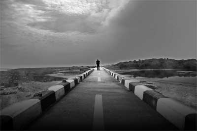 The Lonely Walk by Vinoth Chandar Art