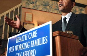 President Obama talking about healthcare