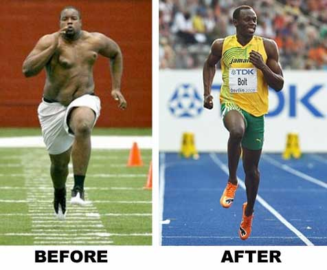 Usain Bolt Before and After Weight Loss