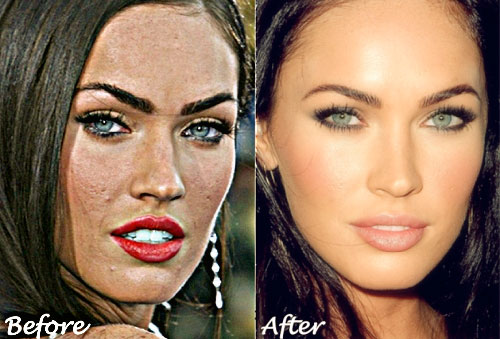 Megan Fox Before and After Your Skin's Worst Enemies