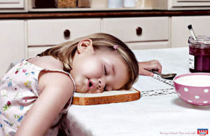 Sleep Humor on Bread