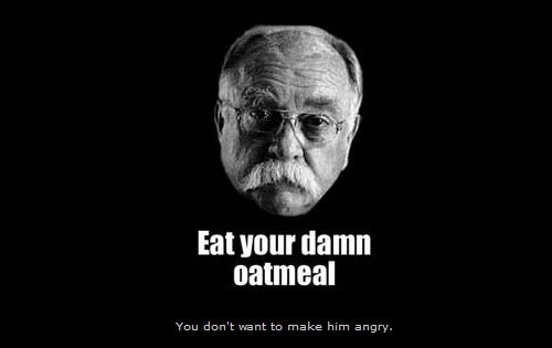 i want you to eat your damn oatmeal funny