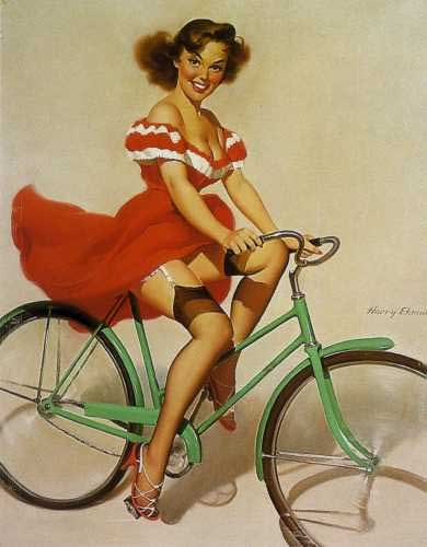 bicycle pin up girl Female Cyclists may be Ruining their Sexual Health