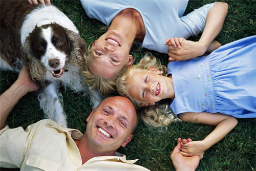 families with dogs have healthier children