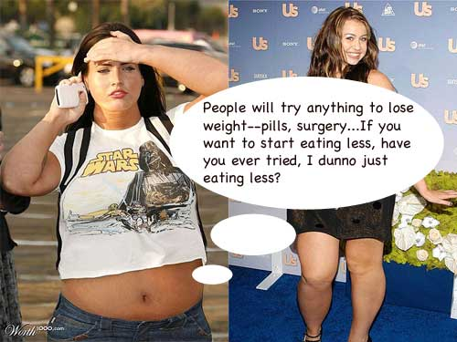Megan Fox if Overweight and Obese Photoshop Fake Humor