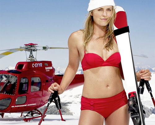 Lindsay Vonn, Tiger Wood's Skier Girlfriend in Bikini