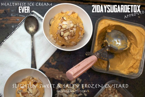 paleo sweet salty custard ice cream