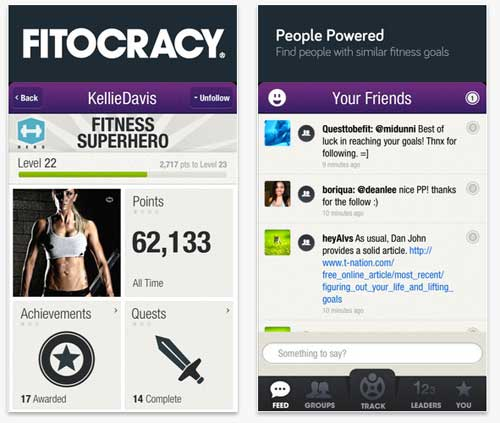 Fitocracy iPhone App Review 2013